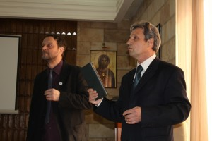 Sa prof. dr Draganom Boskovicem na promociji Ybornika  MALISA 2015